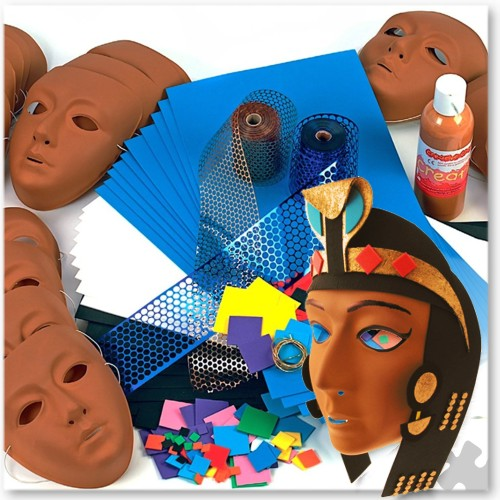 30 Egyptian Masks Kit