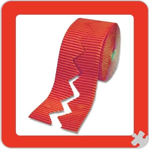 Flame Red Bordette Border Rolls, Zig Zag Edge