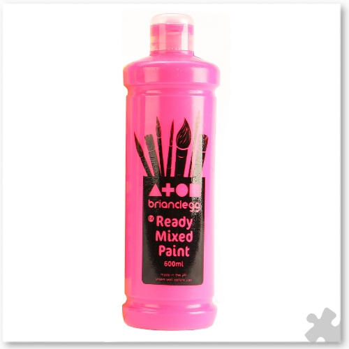 Fluorescent Pink Ready Mixed Paint, 600ml