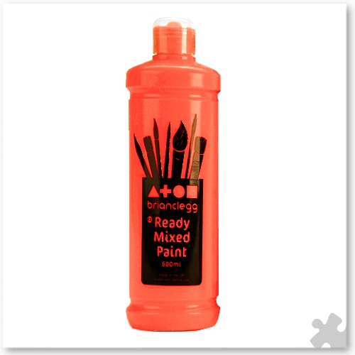 Fluorescent Red Ready Mixed Paint, 600ml