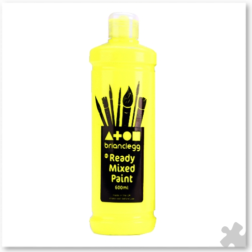 Fluorescent Yellow Ready Mixed Paint, 600ml