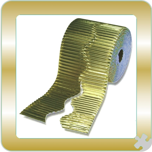 Metallic Gold Bordette Border Roll, Scalloped Edge