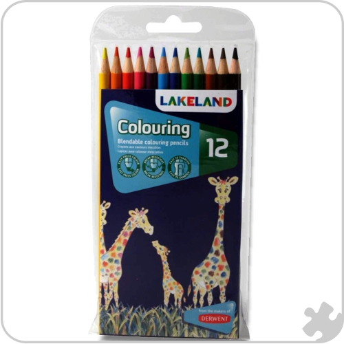 12 Lakeland Colouring Pencils