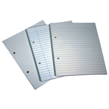 "8mm Ruled & Margin, 8""x 6½"" Punched File Paper"