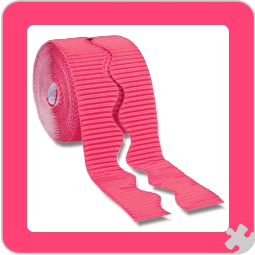 Magenta Bordette Border Roll, Scalloped Edge
