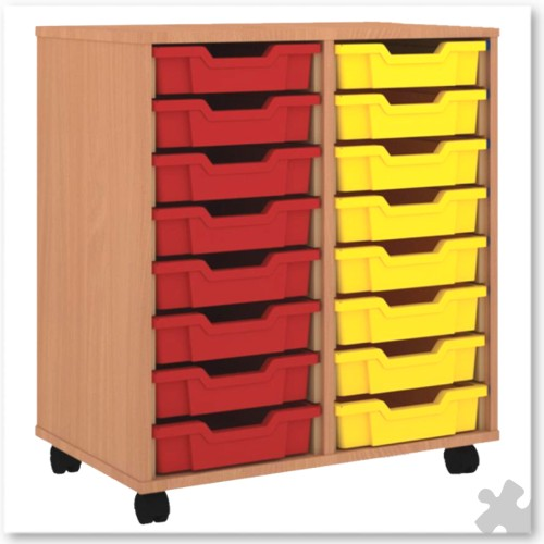 16 Tray Shallow Storage Tray Unit
