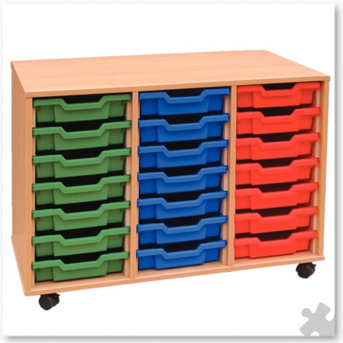 21 Tray Shallow Storage Tray Unit