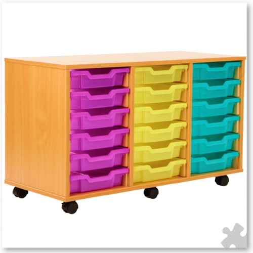 18 Tray Shallow Storage Tray Unit