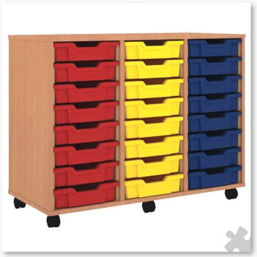 24 Tray Shallow Storage Tray Unit