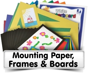 Mounting Paper, Frames & Boards