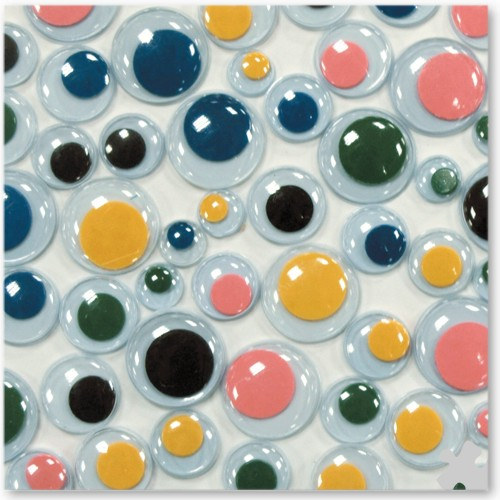Round Self Adhesive Wiggly Eyes in Assorted Colours