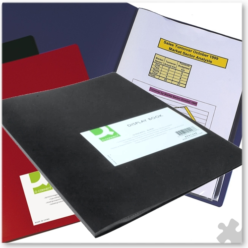 A4 Display Book Black Polypropylene Cover, 10 Pockets