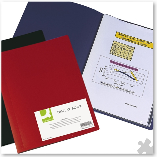 A4 Display Book Red Polypropylene Cover, 10 Pockets