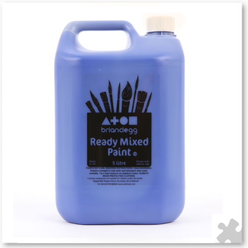Brilliant Blue Ready Mixed Paint, 5L