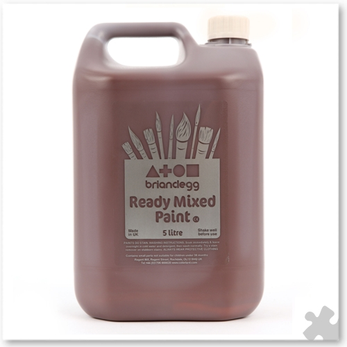 Burnt Umber Ready Mixed Paint, 5L
