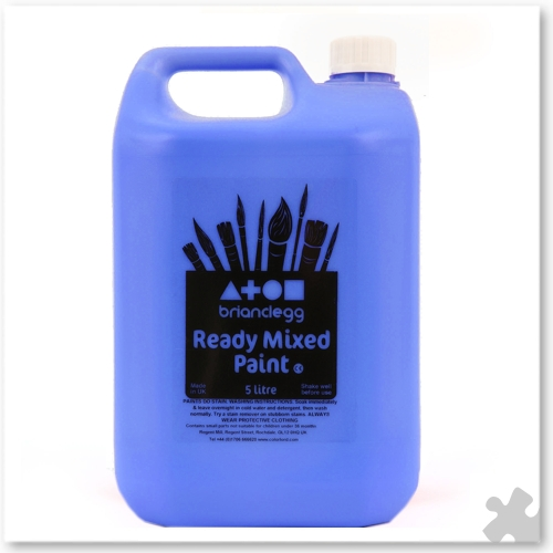 Cobalt Blue Ready Mixed Paint, 5L