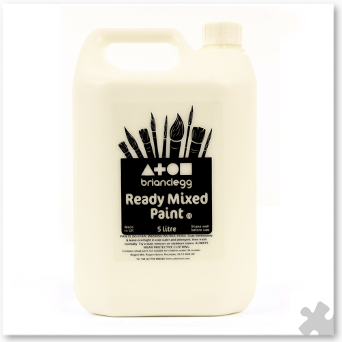 White Ready Mixed Paint, 5L