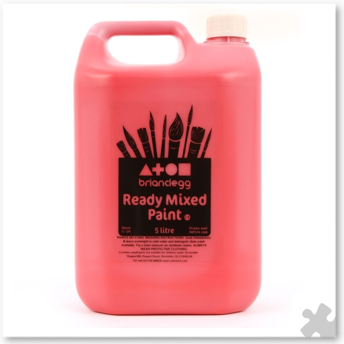 Brilliant Red Ready Mixed Paint, 5L