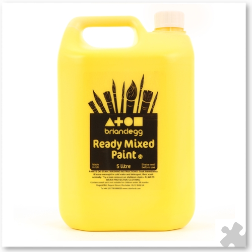 Brilliant Yellow Ready Mixed Paint, 5L