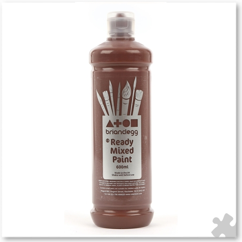 Burnt Umber Ready Mixed Paint, 600ml