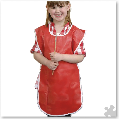 10 PVC Popover Aprons - Ages 3-4 Years