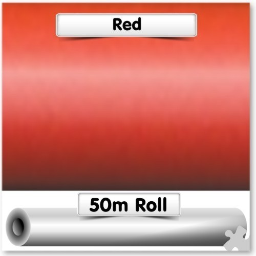 Red Poster Paper - 50m Roll