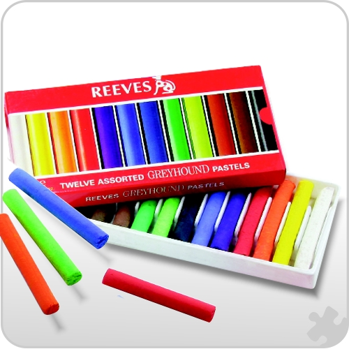 Reeves Soft Round Pastels,12 Pack