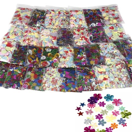 Sequin Mix, 32 Bags of Assorted Sequins