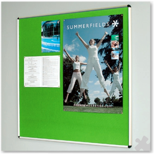 120 x 120cm Shield Design Aluminium Noticeboard
