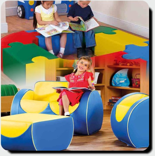 Education furniture activity play chairs role play for Soft furnishings online