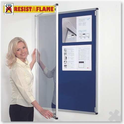 090 x 060cm Tamperproof, Fire Retardant Noticeboard