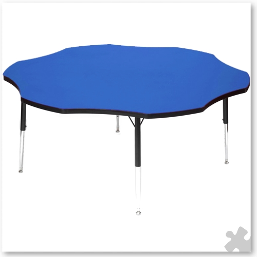 Tuf-Top Blue Flower Table