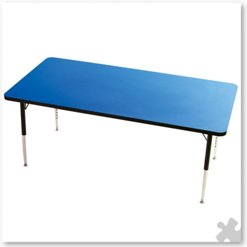Tuf-Top Rectangular Blue Table