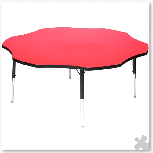 Tuf-Top Red Flower Table
