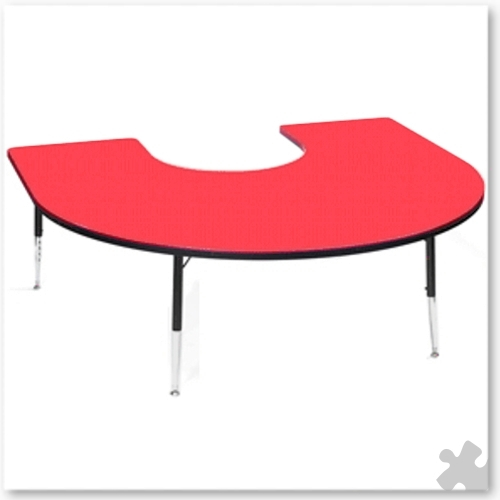 Tuf-Top Red Horseshoe Table