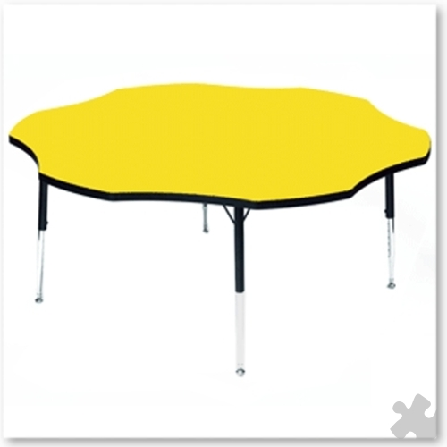 Tuf-Top Yellow Flower Table