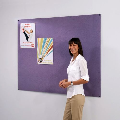 120 x 120cm Frameless Noticeboard - Colourboard