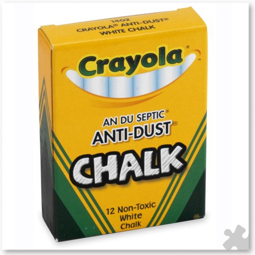 12 Crayola White Chalks
