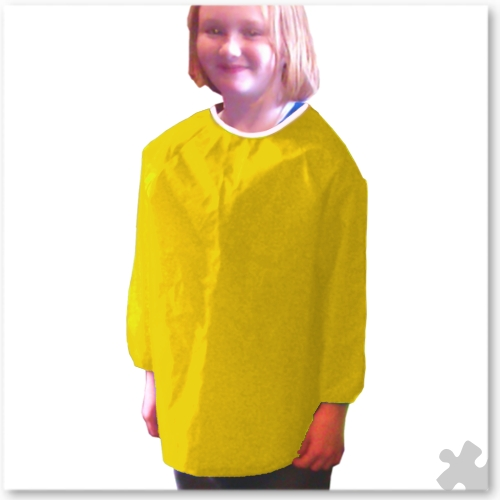 Childrens Nylon 'Raglan' Apron in Yellow, Ages 5 to 6